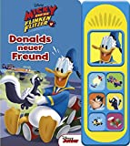 Disney - Donalds neuer Freund -Soundbuch - Disney Micky und die flinken Flitzer - Pappbilderbuch mit 7 lustigen Geräuschen für Kinder ab 3 Jahren