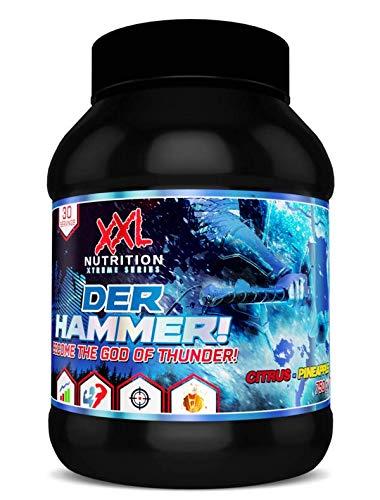 XXL Nutrition Der Hammer | Pre Workout Booster Hochdosiert | 750g