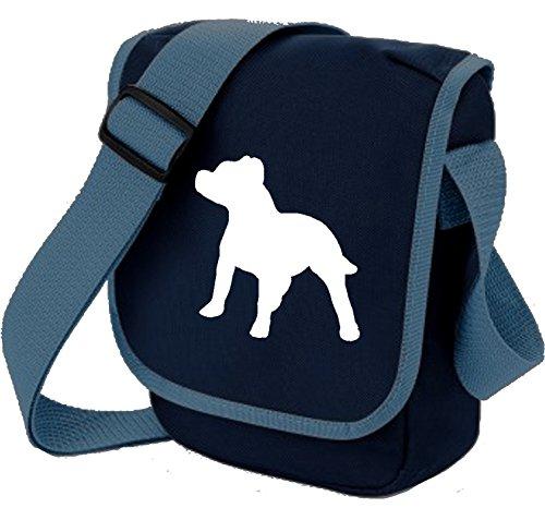 Bag Pixie, Borsa a spalla donna White Dog on Blue