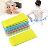 HI5 5pcs/lot Nylon Japanese Exfoliating Beauty Skin Bath Shower Wash Cloth Towel Back