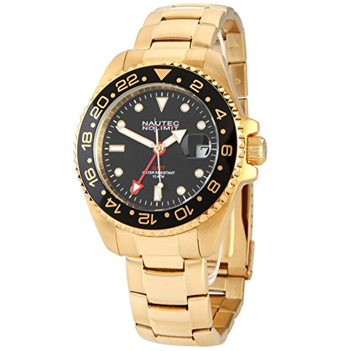 Nautec No Limit Men's Watch Jackfish JKFS-QZ-GMT-GDGDBKBK