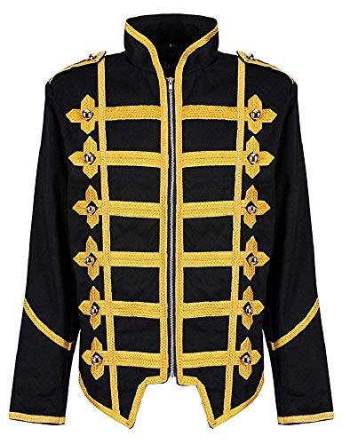 ock Goth MCR Offizier Parade Jacke - Schwarz & Gold (Herren L) ()