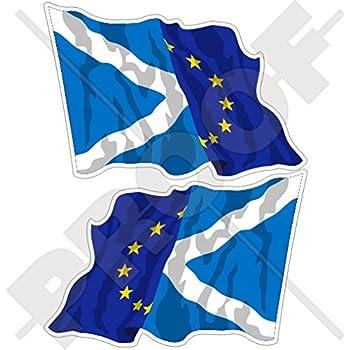 50/mm europe-uk Waving Flag Union europ/éenne Kingdom eu-british 5,1/cm Union Jack bumper-helmet en vinyle autocollants gauche-droite Stickers x4/
