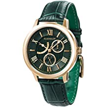 Thomas Earnhshaw Men's Cornwell Sweep Second Retrograde Quartz Watch with Green Dial Analogue Classic Display and Green Leather Strap ES-8060-02