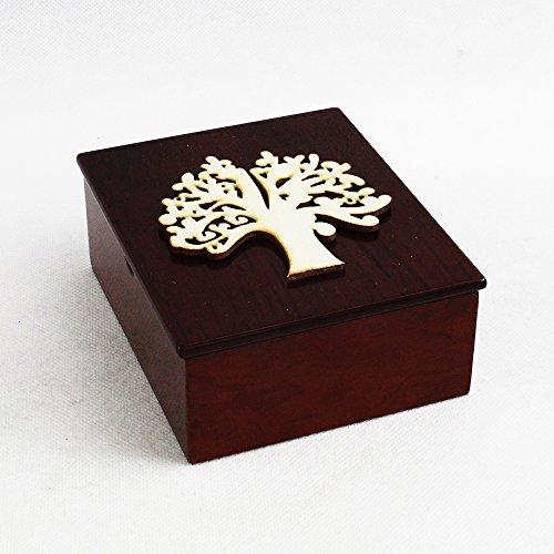 Dlm26691 scatola portagioie in legno albero della vita cuore nozze battesimo bomboniera