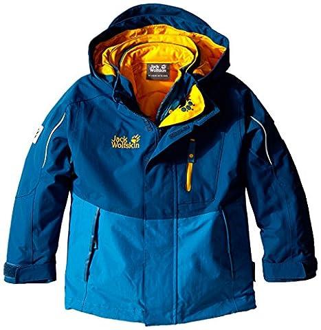 Jack Wolfskin Kids Crosswind 3in1 Jacket - Moroccoan Blue - 92 - Warme wasserdichte Kinder