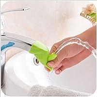 HENGSONG Silikon Hahn Extender Wasserhahn Extender Baby Kinder Waschen Hand Wasserhahn Anzapfung Extender Waschtischarmatur für Badezimmer Küche (Grün)