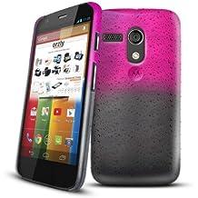 Orzly® - Raindrops Hard Back Crystal Case per MOTO G - FUNDA / CARCASA / CAJA DURO en Semi Transparente ROSA Color para MOTOROLA MOTO-G SmartPhone / Teléfono Móvil - 2013 modelo / versión