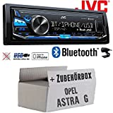 Opel Astra G - JVC KD-X341BT - Bluetooth | MP3 | USB | Android | iPhone Autoradio - Einbauset