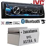 Opel Astra G - JVC KD-X341BT - Bluetooth | MP3 | USB | Android | iPhone Autoradio - Einbauset