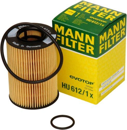 Preisvergleich Produktbild Original MANN-FILTER Ölfilter HU 612 / 1 X - Ölfilter Satz mit Dichtung / Dichtungssatz - Für PKW