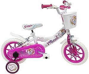 """Denver Bike Micol, 12"""" Niñas Ciudad 12"""" Acero Rosa, Blanco bicicletta - Bicicleta (12"""", Vertical, Ciudad, 30,5 cm (12""""), Acero, Rosa, Blanco, 30,5 cm (12""""))"""