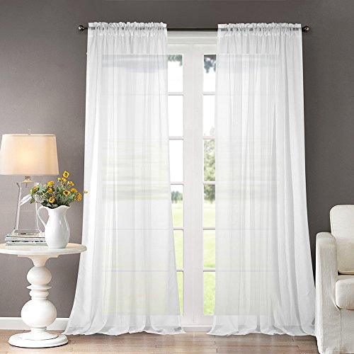 Dreaming Casa Bianco Tende Voile Solide Camera da Letto ...