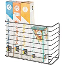mDesign Cesta de alambre para colgar – Estantería metálica resistente para armario o pared – Práctico