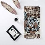 BVCGDFAS Silk Scarf Women Print Tulle Headband ScarfsNeck Shawls Wrapsnew Silk Scarf Fashion Long Moth-Proof Scarf Shawl Brown