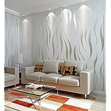 Papel pintado pared moderno - Papeles pintados salon ...