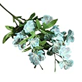 Unechte Blumen,Ronamick Schmetterling Orchidee Künstliche Seide Blumenstrauß Phalaenopsis Hochzeit Home Decor (Blau)