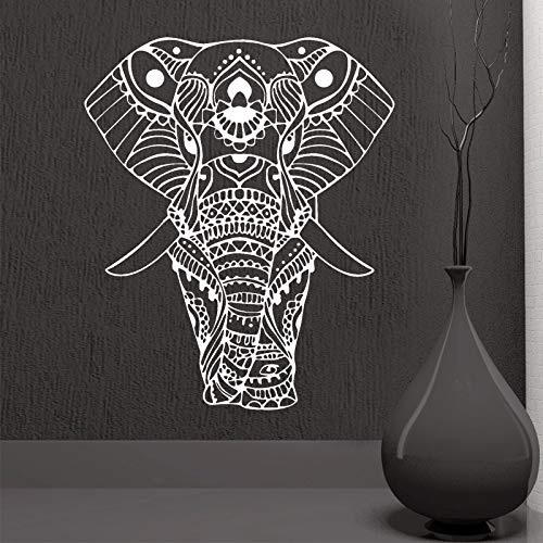 Modeganqingg Rownocean Mandala Yoga Schmuck Indische Buddha Bild Wandaufkleber Art Deco Wohnzimmer Vinyl Removable Brown 57x68 cm