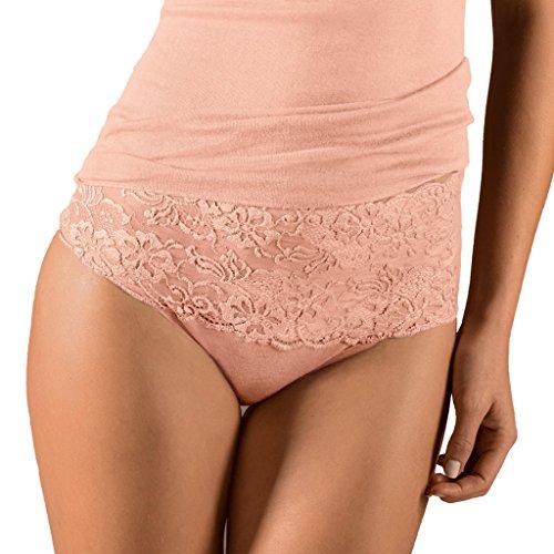 Taille Slip (Nina von C. - Fine Cotton - Damen Taillen Slip - Baumwolle (50, Apricot))