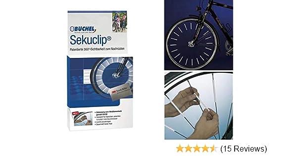 Gelb - 72 St/ück com-four/® 72 Speichen-Reflektoren f/ür das Fahrrad