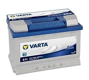 comprar piezas de vehiculos por internet: VARTA E11 Blue Dynamic Batería de coche, 574 012 068 3132, 74Ah, 680A