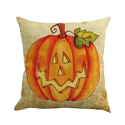 iYmitz Happy Halloween 45cmX45cm Kissenbezüge Happy Fall Yall Leinen Sofa Kissenbezug(C,45cmx45cm)
