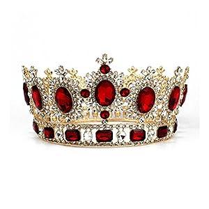 Pixnor Elegant Kristall versilbert Krone Braut Hochzeit Diadem Tiara