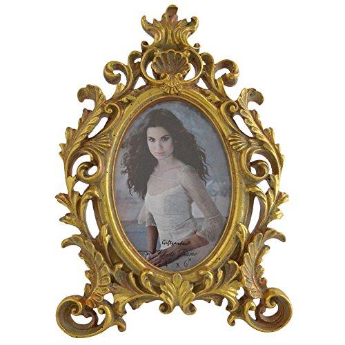 Photo Frame 6x4 Vintage Oval Frames, Gold