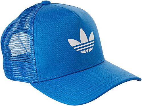 adidas Trefoil Trucker - Gorra unisex, color azul / blanco, talla OSFC
