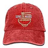 Fashion Home Send Noods Ramen Noodles Plain Adjustable Cowboy Cap Denim Hat for Women and Men