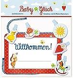 Fotoleine – BabyGlück – Willkommen!: Fotoleine mit 5 Motiv-Klammern und Karte zum Beschriften