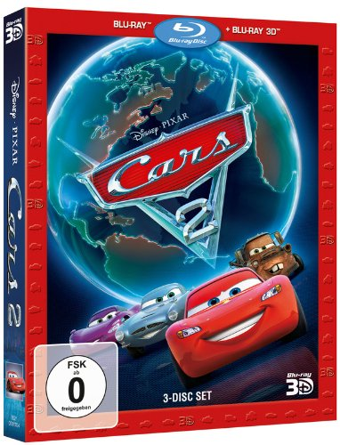 Cars 2 (+ 2 BRs) [3D Blu-ray] (Disney Pixar Cars-film)