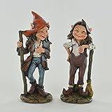 Garten Elf Paar Outdoor Decor Neuheit Skulptur für Fairy Pixie Gnome Fantasy 11cm