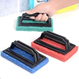 #10: House Of Quirk 3Pc Sponge Brush For Floor Tile Scrubber Polisher Cleaning