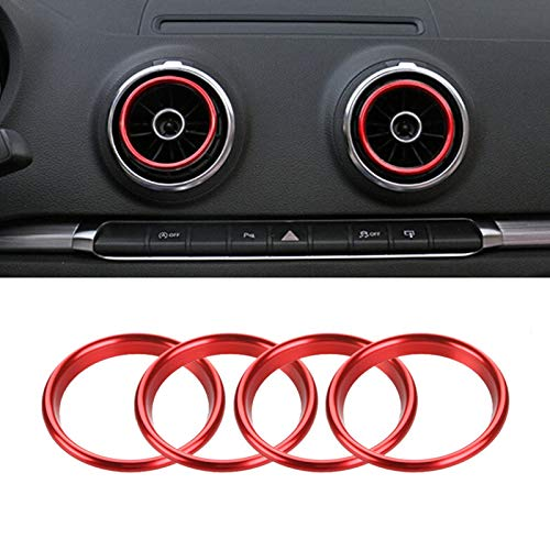 Rot Innen Air Vent Outlet Ring Verkleidung Iso Trim Ring