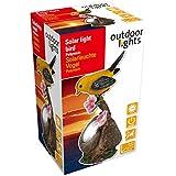 Outdoor Lights 56570 Lampe de Jardin Solaire en Forme d'Oiseau Céramique Multicolore 8 x 6,5 x 14,5 cm