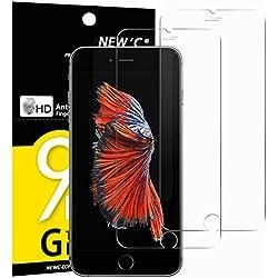 """NEW'C Verre Trempé pour iPhone 6, 6S (4.7""""),[Pack de 2] Film Protection écran - Anti Rayures - sans Bulles d'air -Ultra Résistant (0,33mm HD Ultra Transparent) Dureté 9H Glass"""