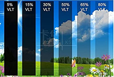 DiversityWrap Film solaire teinté anti-rayures 1 couche Pour voiture, van Noir très foncé 5%