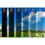 DiversityWrap–película protectora solar para ventana de tinte, 1 capa, antiarañazos (muy oscuro - negro 5%)