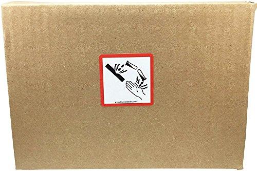 GHS Pictograma Corrosión Pegatinas, 51 mm 2 Pulgadas Cuadrado, 500 Etiquetas en un Rollo