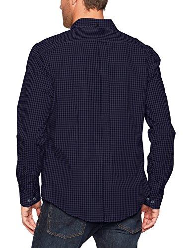 Ben Sherman Ls Core Gingham, Camicia Uomo Grey (Phantom)