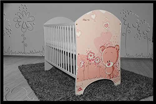 5 PCS BABY NURSERY FURNITURE SET - COT + MATTRESS + WARDROBE + CHEST OF DRAWERS + TOY BOX (model 18)  Included: cot + mattress + wardrobe + chest of drawers + toy box Material: wood GREAT QUALITY 2