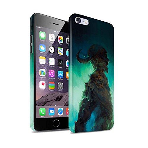 Offiziell Chris Cold Hülle / Glanz Snap-On Case für Apple iPhone 6+/Plus 5.5 / Gevatter Tod Muster / Dämonisches Tier Kollektion Gehörnter Dämon