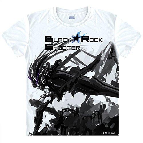 Brs Kostüm (BRS Black Rock Shooter T-Shirt Kostüm Cosplay)