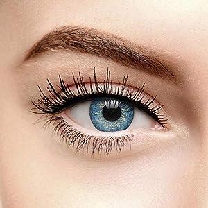 Chromaview Farbige Kontaktlinsen Ohne Stärke Dusk Blau (90 Tage)