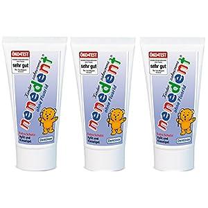 3x Nenedent Kinderzahncreme ohne Fluorid (3x 50ml)
