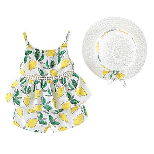 Mädchen Outfits Obst Blumendruck Rüschen Tops + Shorts Röcke Prinzessin Partykleid Sommerkleid Prinzessin Kleid Kinder Kleider Baby Bekleidungssets Neugeborenen Bekleidungset ()