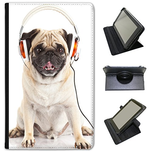 music-mad-pug-with-headphones-universal-faux-leather-case-cover-folio-for-the-google-nexus-7-2013