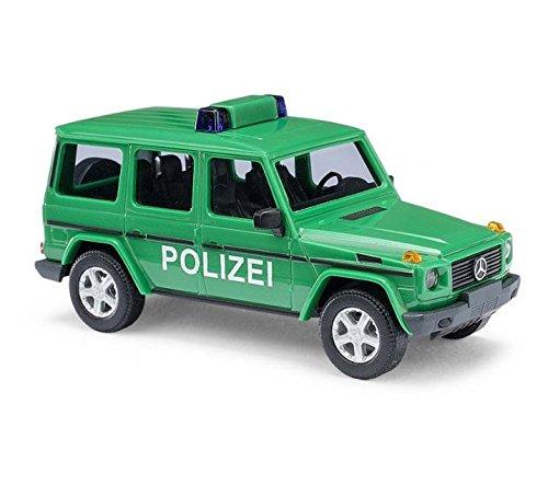 Mercedes classe G, vert, police, 0, voiture miniature, Miniature déjà montée, Busch 1:87