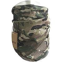 QMFIVE Écharpe tactique camouflage, hommes et femmes unisexe multi-usages  bandeau militaire style tête 5432434bc4c